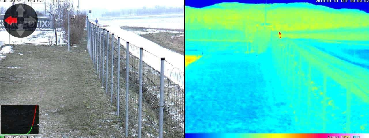 Uso de cámaras térmicas para la detección segura del perímetro. 8